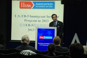 IIUSA Executive Director, Peter D. Joseph, speaks to attendees in Guangzhou.