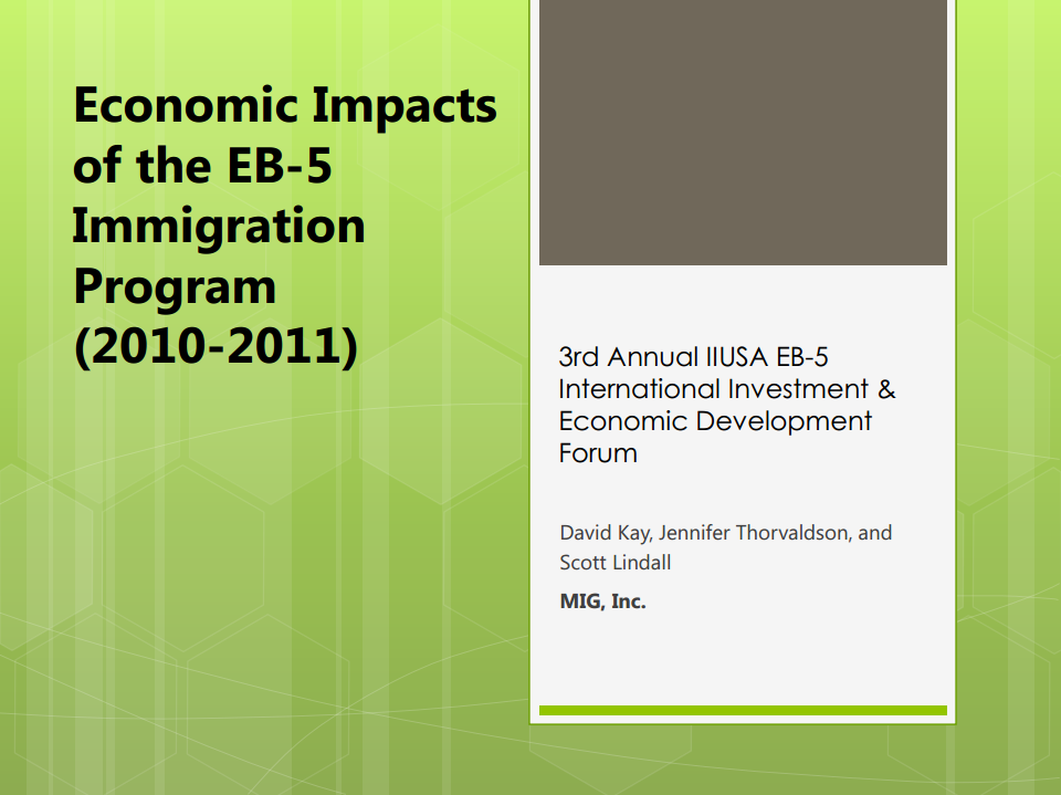 A Closer Look at the Peer-Reviewed, IIUSA-commissioned Economic Impact Study of the EB-5 Program for 2010-2011: Methodologies