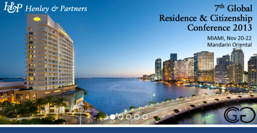 20% Discount for IIUSA members at 7th Annual Global Residence and Citizenship Conference in Miami: Nov. 20 – 22