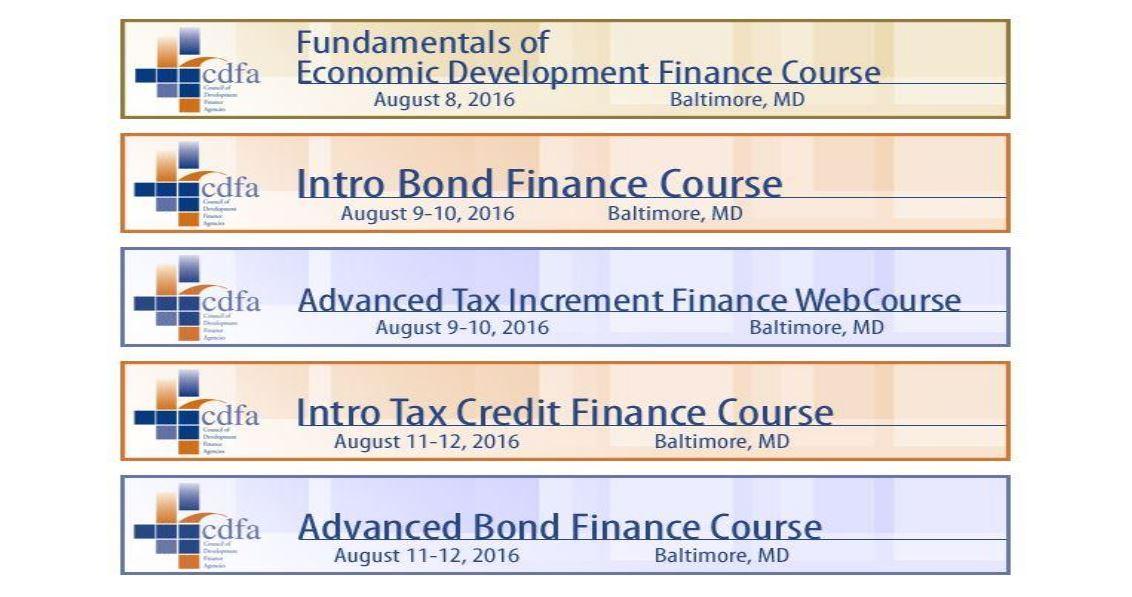 CDFA Announces Agendas for Summer School!