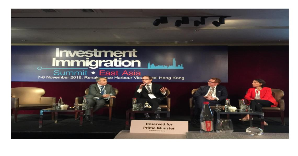 IIUSA Executive Director Speaks at Investment Immigration Summit Asia Series in Hong Kong