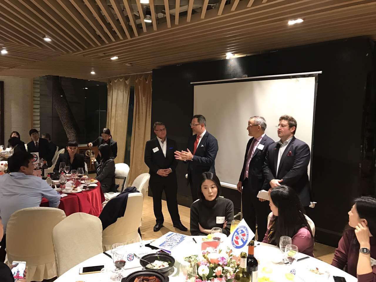 IIUSA Board Members Cletus Weber (Peng & Weber, PLLC), Rafael Anchia (Civitas Capital Group) and George Ekins (American Dream Fund) provide the audience EB-5 legislative updates