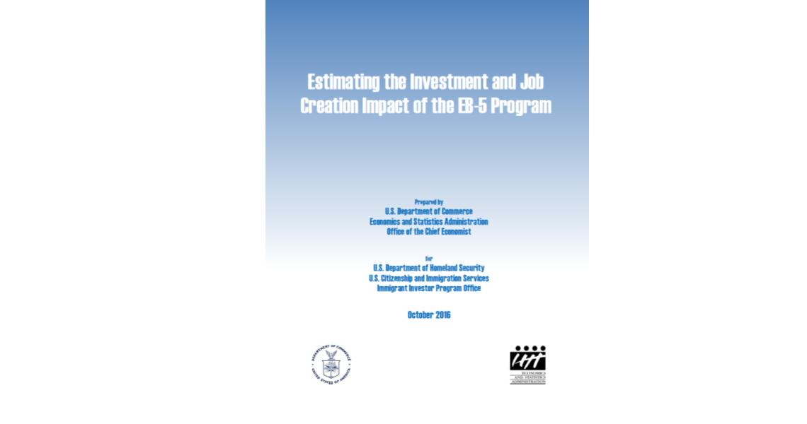 EB-5 Created Nearly 170,000 jobs with $16.4 Billion in Investments According to New Department of Commerce Report