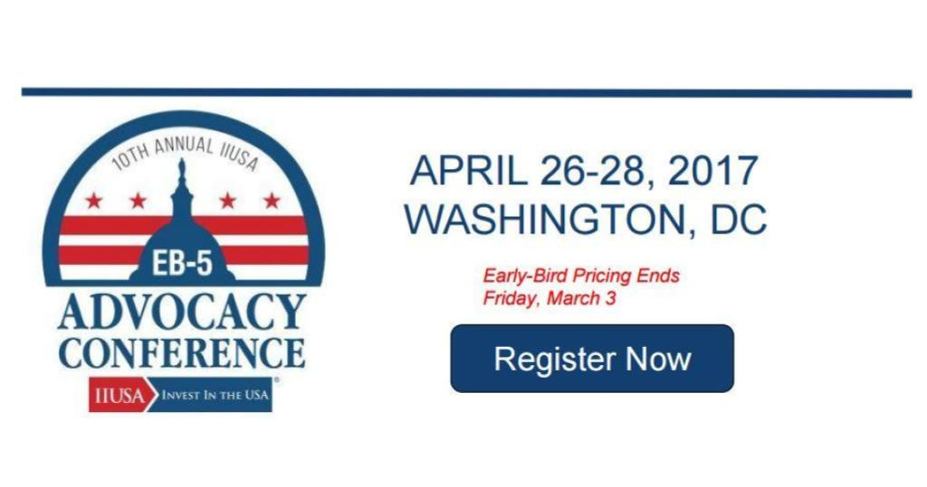 Where will you be on EB-5 Program Sunset? Join IIUSA in Washington, DC for the EB-5 Advocacy Conference!