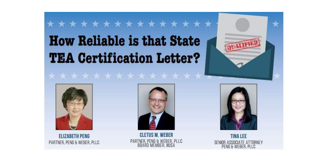 """""""How Reliable is That State TEA Certification Letter?"""""""