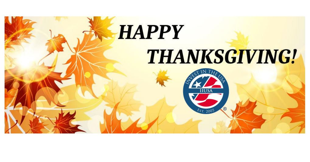 Happy Thanksgiving from Your EB-5 Industry Trade Association