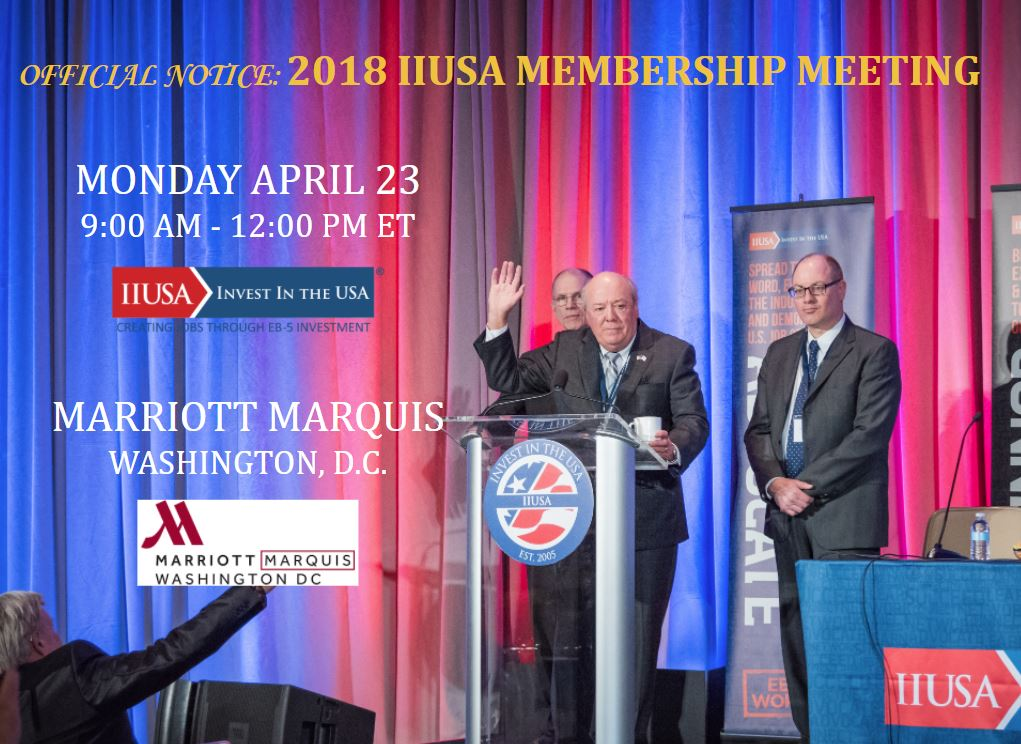 Join IIUSA this April for the 2018 Membership Meeting in Washington, DC
