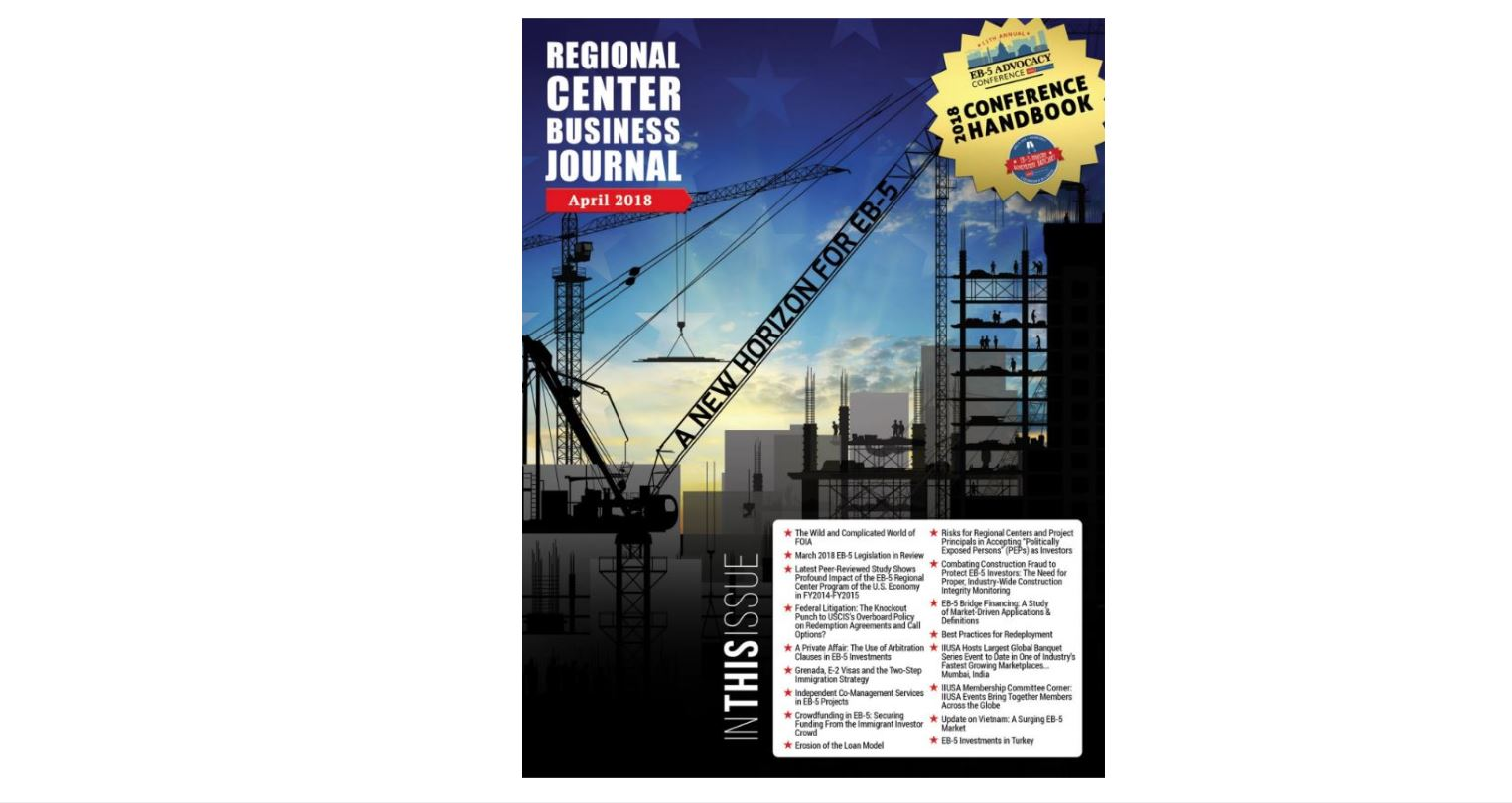 Latest Edition of the IIUSA Regional Center Business Journal Now Available Online!