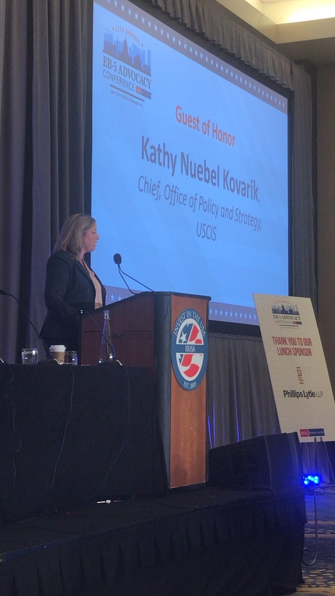 Kathy Nuebel Kovarik at IIUSA's EB-5 Advocacy Conference