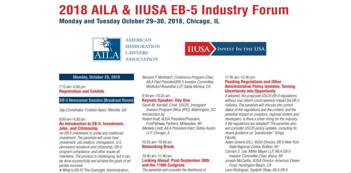 Explore the Full EB-5 Industry Forum Schedule