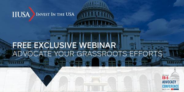 RSVP for a Free IIUSA Grassroots Advocacy Webinar