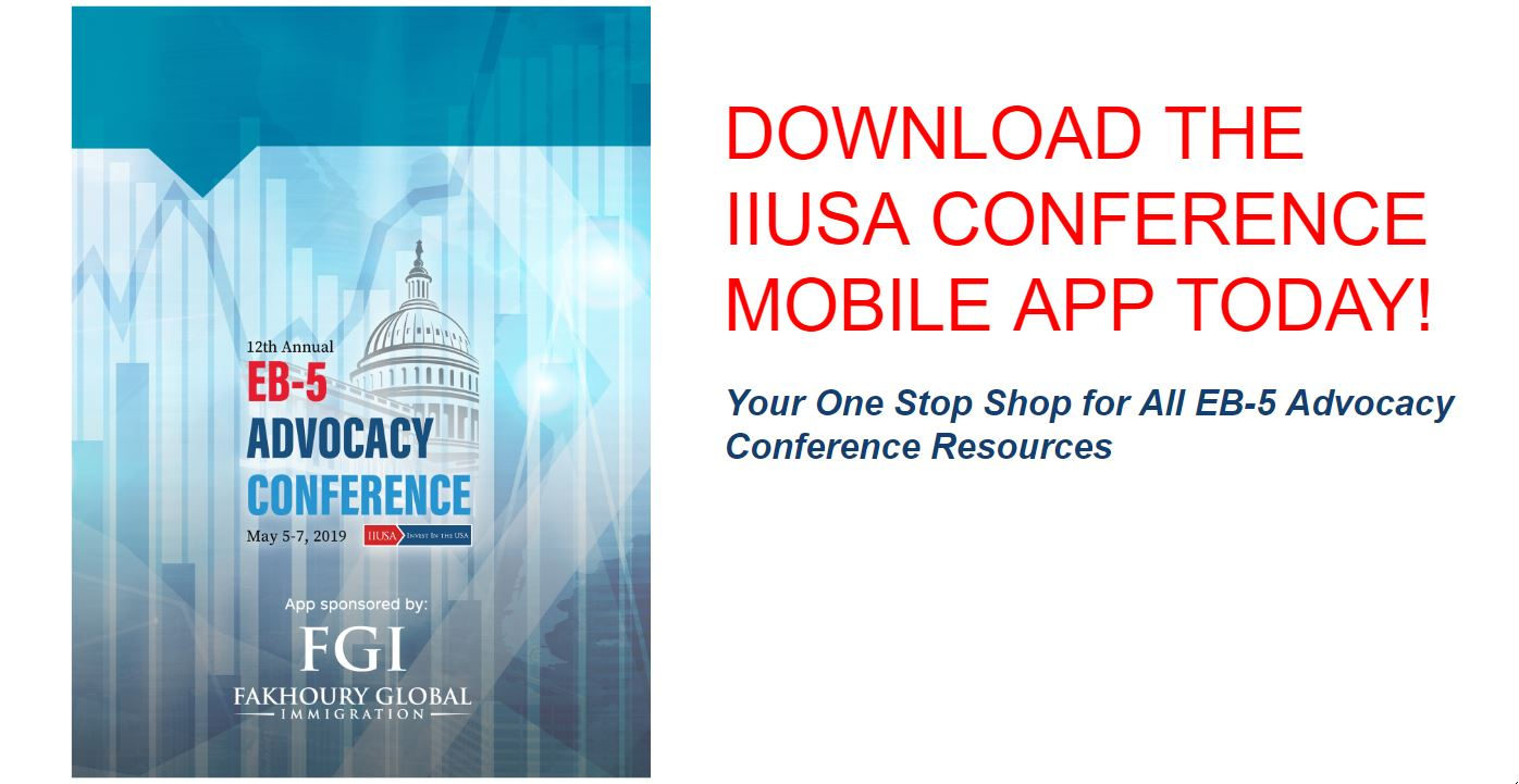Download the IIUSA Conference Mobile App: Your One Stop Shop for EB-5 Advocacy Conference Resources