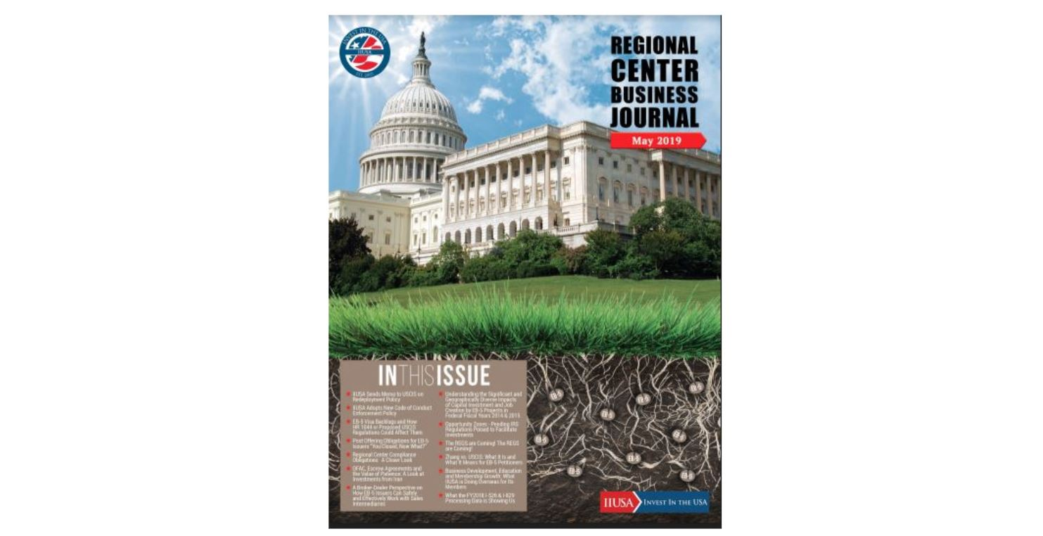 Read the Latest Edition of IIUSA's Regional Center Business Journal