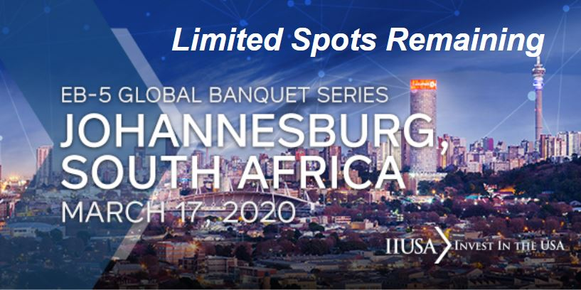 Just Two Spots Remaining for the IIUSA Global Banquet Series Event in Johannesburg!