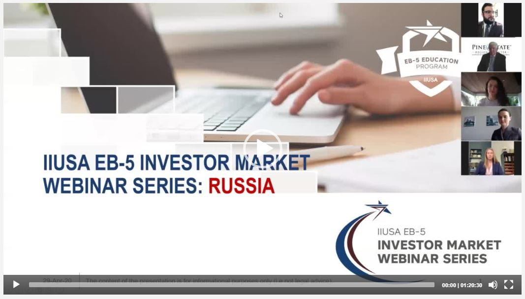 Missed Out on Last Weeks EB-5 Webinar on Russia? The Recording is Now Available!