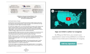 Sign IIUSA's Public Letter to Show Your Support for the Catalytic Impact of EB-5 Job Creation and Economic Development