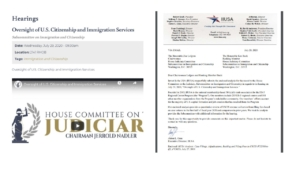IIUSA Submits Report for the Record for House Judiciary Committee Hearing on USCIS Oversight