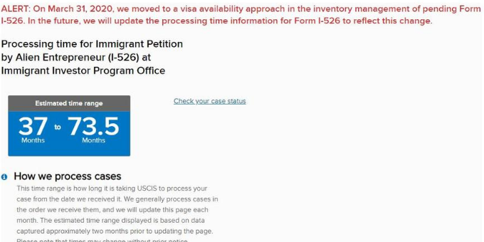 USCIS Updates Processing Time Page to Reflect Visa Availability Approach