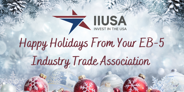 Happy Holidays from Your EB-5 Industry Trade Association