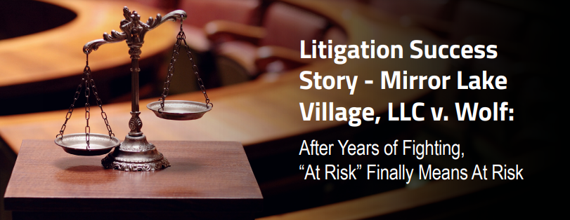 "RCBJ Perspectives: Litigation Success Story – After Years of Fighting, ""At-Risk"" Finally Means At Risk"