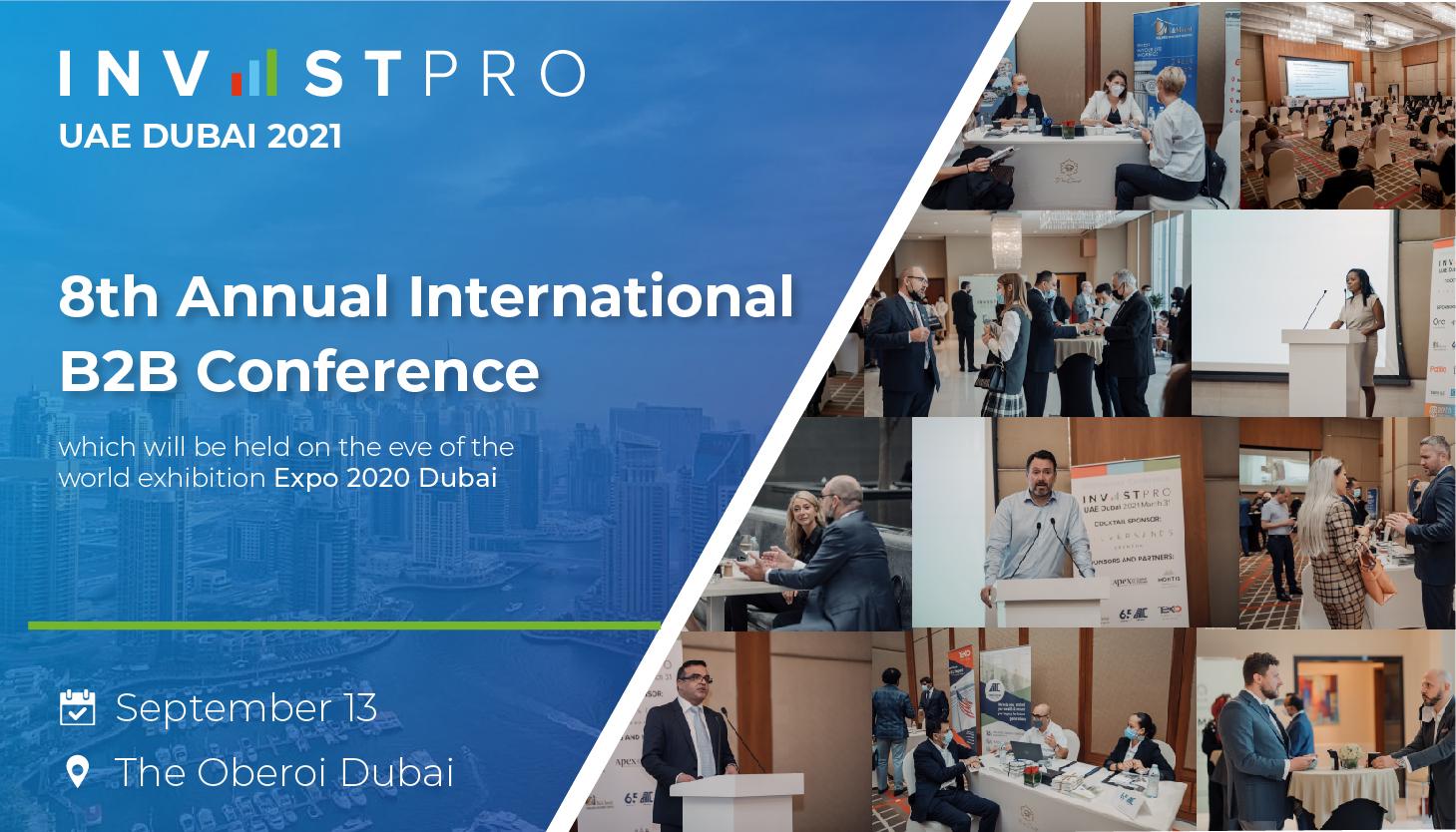 You're Invited to InvestPro UAE Dubai 2021
